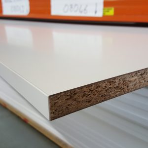 8x2 foot white panel edged 2 sides